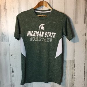 Men's green Spartan shirt short sleeve